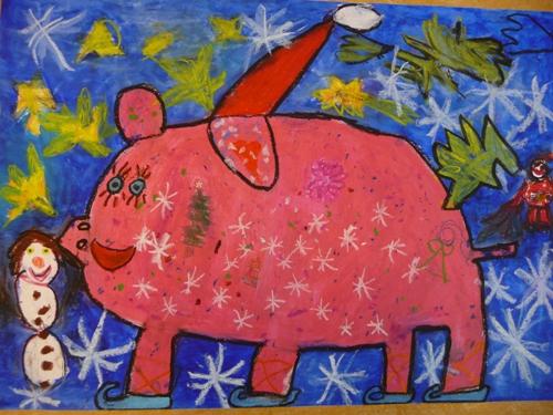 Weihnachtsbilder Gemalt.Kunstwerkstatt 23 159 Hexenpost